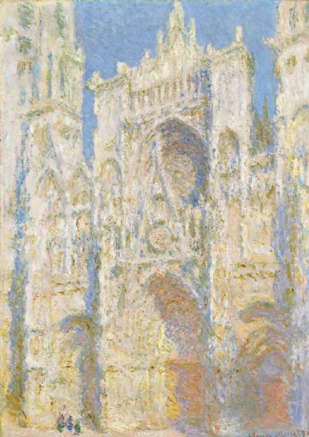 Monet, Claude: Rouen Cathedral, West Façade, Sunlight. Fine Art Print.  (004086)